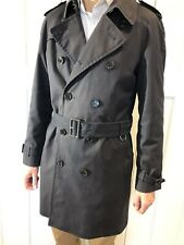 Burberry Mens Trench Coat Large/Ex Large 52R Navy  -