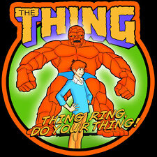 "70's Classic Cartoon The Thing ""Thing Ring, Do Your Thing!"" custom tee Any Size"