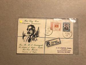 Ceylon 1949 FDC +Independence Anniversary #SG408-9 + 1st Prime Minister Cachet