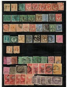 Lot of Tasmania & Queensland(Australia) Old Stamps Used