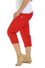 Cotton Blend Capri, Cropped Trousers Plus Size for Women