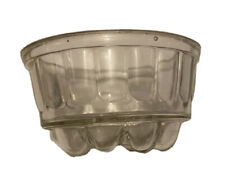 Vintage Heavy Lt Clear Glass Hand Bar Soap Dish Tray Bowl Bathroom Kitchen