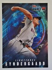 "2016 TOPPS BUNT NOAH SYNDERGAARD ""LIGHTFORCE"" 5X7 JUMBO ART CARD #/49 METS"