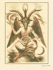 Baphomet Poster - Pagan - Wiccan - For framing or Book of Shadows- Parchment