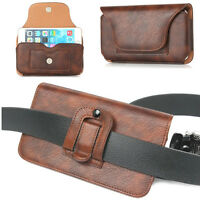 PU Leather Mobile Phone Card Slot Case Cover Belt Clip Holster Sleeve Pouch Skin