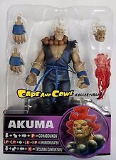 "SOTA Toys Street Fighter Round 4 SHIN AKUMA WHITE HAIR & BLUE GI Loose 6"" Figure"
