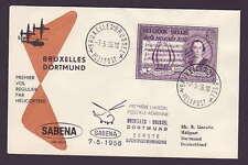 Belgien: Erstflug Brüssel - Dortmund 1956.