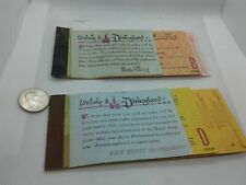 Disneyland Magic Kingdom vintage Adult tickets, 2 partial books, yellow&pink