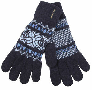 Paul & Shark Yachting Handschuhe Gloves100% Merino Wolle Wool Größe 8.5 M Blau