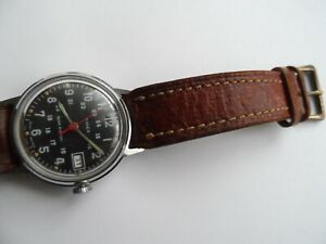 Old Timex Military Style Mechanical Wind Up Gt Britain 1178-2570 Men's Watch. .