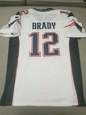 New England Patriots  12 Tom Brady White Super Bowl 53 Jersey Men s Size  Large 6b580075c