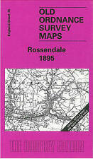 OLD ORDNANCE SURVEY MAP Rossendale 1895: One Inch Sheet 076