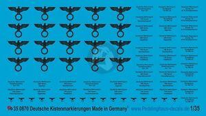 Peddinghaus 1/35 German Supply / Ration / Rifle Ammo Crate Markings WWII 870