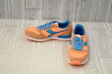 Diadora Camaro Retro Running Shoes, Men's Size 6, Orange/Blue