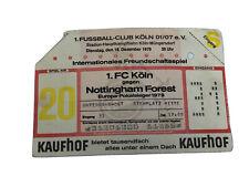 More details for ticket fc koln v nottingham forest 1979 uefa cup