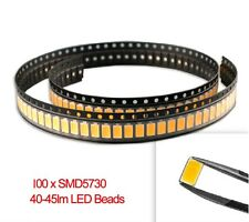 100 Pcs WARM White 5730 Smd Led : High Power Supper Bright Led | Brand New
