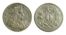 pcc2129_1) Napoli Carlo II mezzo Ducato 1693 busto e tosone P.R. 7