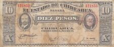 1915 Mexico El Estado de Chihuahua Revolutionary 10 Pesos  Note, PS534b