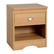 Regent Teak Effect Bedroom Furniture 1 Drawer Bedside Cabinet
