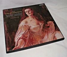 Lucia di Lammermoor Sutherland Pavarotti Royal Opera 3 LP Vinyl Record Album