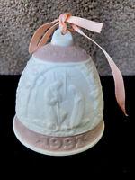 """1991 Lladro Bell Ornament Porcelain 2.75"""" Retired Spain"""