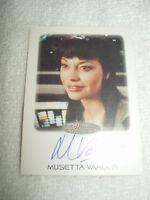 Star Trek Autograph Card Women of Musetta Vander as Derran Tahl in Voyager