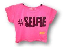 T-shirts et débardeurs roses en polyester pour fille de 2 à 16 ans