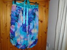 Turquoise and multi summer print bubble hem mini dress, VEGA'S TU, size 14, NEW
