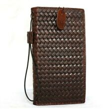Genuine oiled leather Case for apple iPhone 6 book wallet handmade luxury cover