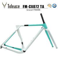 Gravel Frame Carbon Fiber Road Racing Bike Frame 700C*40 or 27.5er*2.1 MTB Frame