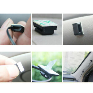 10Pcs Car Wire Cord Clip Cable Holder Tie Fixer Organizer Drop Adhesive Clamp