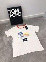 Saint Laurent White 'Waiting For Sunset Slim Fit T-Shirt - Size XL - RRP £300