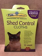 Furminator 105007 Cat Shed Control Cloths 12-Count Each Reusable Up to 3 Times