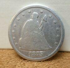 1875-CC Twenty Cent Piece - Silver 20 Cents Carson City Mint