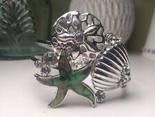 Abalone Starfish Bangle Bracelet Hinge Closure Clasp Shell Sand Dollar
