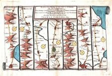 Antique map, The Road from Whitby in to Durham plate 099