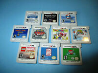 Lot of 10 Nintendo 3DS Games Mario Party Pokemon Lego Marvel Happy Feet +