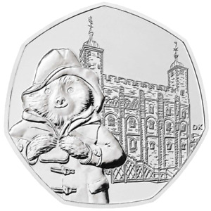 Paddington Bear at the Tower 50p Brilliant Uncirculated Coin 2019 New & Sealed