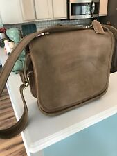 Vintage COACH PURSE LEATHER Flap Saddle BAG MADE IN NEW YORK CITY U.S.A.