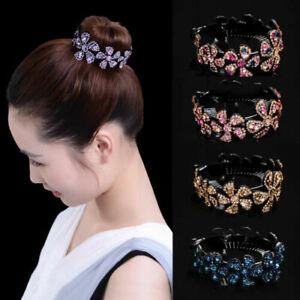 Women Girls Hair Clip Crystal Claw Ponytail Bun Holder Comb Hairpin Fashion Gift