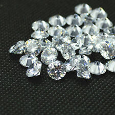 Round Shape 0.70ct 5mm Pure White VVS1-D Clear Simulated Loose Diamonds For Sale