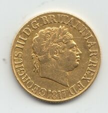 More details for 1817 sovereign king george iii full gold sovereign coin.