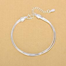 Ladies Bracelet Women Sterling Silver Anklet Foot Jewelry Chain Beach Design
