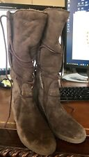 UGG ELSEY Tall Wedge Boots BROWN Susede US sz 5 #5596