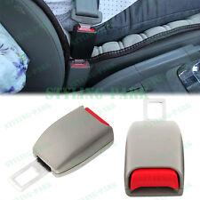 2 Gray Car Seat Belt Extender Safety Eliminator Alarm Stopper Buckle Insert Clip