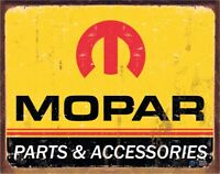 "NEW We Use Mopar Parts Chrysler 12/"" Round  Metal Sign"