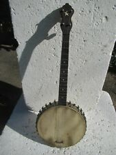 SUPERTONE DIXIE WONDER TENOR BANJO, 1920'S,  SEARS, METAL POT, TONE RING