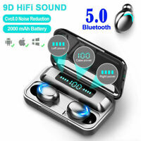 TWS Wireless Earbuds Bluetooth Earphones Headphones Mini Headset Waterproof Pod