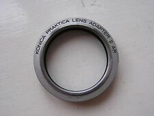 Genuine Konica Bayonet to Praktica M42 Lens Adapter 2 AR Ring Camera Lens