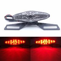Feu Arrière Moto à 6 LED Freinage éclairage Phare Plaque de Frein avec Support